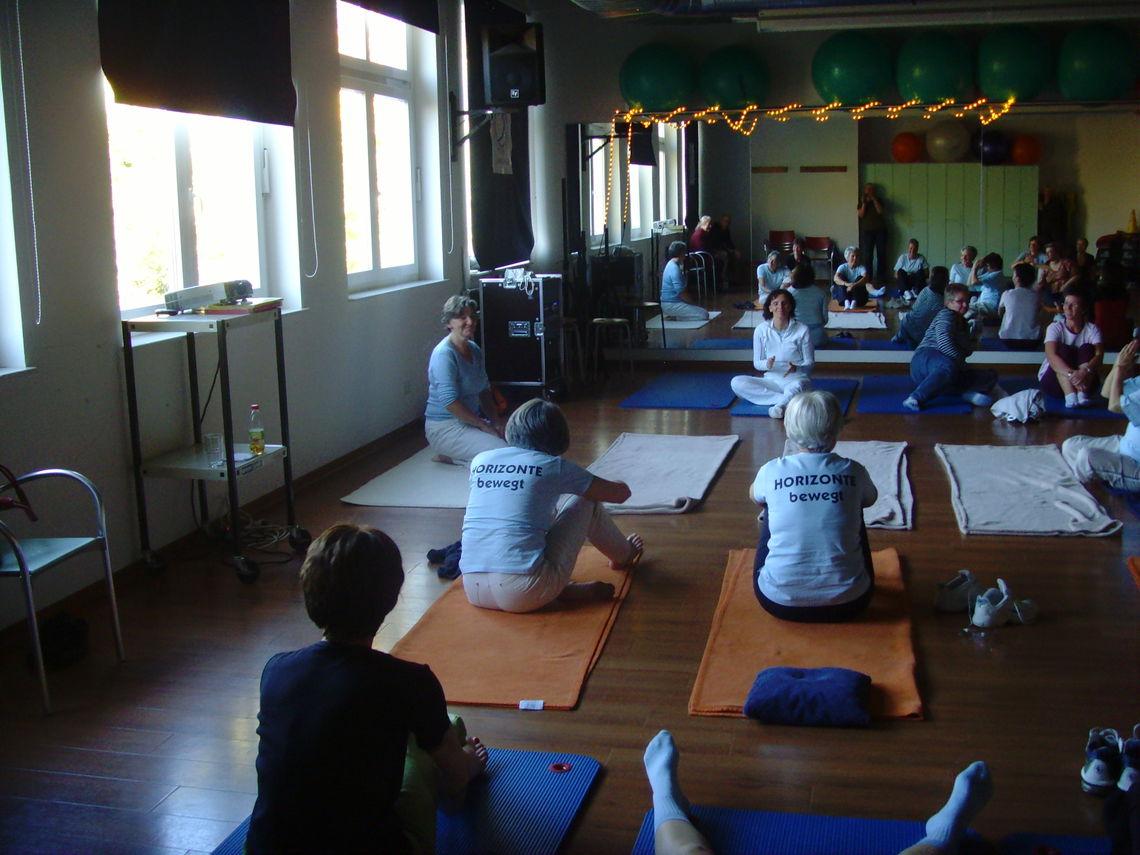 Mitmachaktion Yoga
