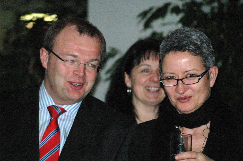 M. Brede: Vorstand Horizonte Finanzen, Steuerberater, Frau Koschate, Beate Irrgang (Deutsche Bank Gö.)